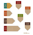 Set of labels with place for text vector image vector image