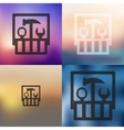 set of tools icon on blurred background vector image vector image