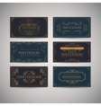 Set Of Vintage Luxury Greeting Restaurant Menu vector image vector image