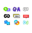 set q and a icons question and answer concept