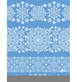 Snowflakes seamless border laceWinter pattern vector image vector image