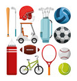 sports champions league set icons vector image vector image
