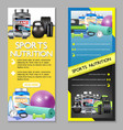 sports nutrition vertical banner set vector image