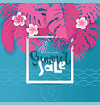 square summer tropical palm monstera leaves in vector image vector image