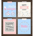 Summer holidays cards vector image
