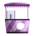 sweet cotton kiosk icon cartoon style vector image