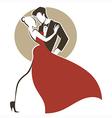 tango dance vector image vector image