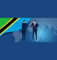 tanzania international partnership diplomacy vector image vector image