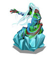the statue in the form of abstract beings in ice vector image
