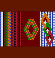 the traditional ornament of the inhabitants of vector image vector image