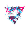 trendy sports background composition of geometric vector image