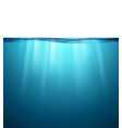 underwater ocean surface blue water background vector image