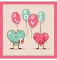 Valentines day Heart Gift Boy Girl Icon Flat vector image vector image