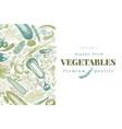 vegetables hand drawn retro vector image vector image