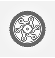 Wheel logo vector image