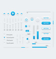 white ui user interface elements for mobile vector image