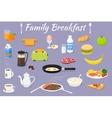 breakfast fresh food and drinks vector image