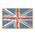 flag united kingdom with opaque grunge texture vector image