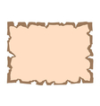 Parchment old paper Empty cartoon banner vector image
