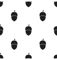 acorn icon in black style for web vector image