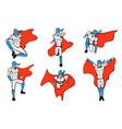 hand drawn hero models in various poses vector image