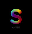 3d iridescent gradient letter s vector image vector image