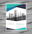 abstract blue company brochure template vector image vector image