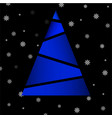 abstract colorful christmas tree of polygons vector image