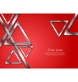 Abstract tech geometry metallic triangles vector image vector image