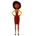 african american worried woman angry lady vector image vector image