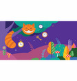 alice in wonderland banner poster and card we vector image
