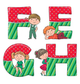 Alphabet kids EFGH vector image vector image