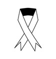 awareness ribbon icon image vector image