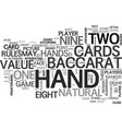 baccarat for beginners free game tips text word vector image vector image