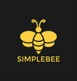 bee graphic design template vector image vector image