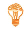big idea bulb symbol vector image vector image