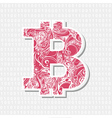 Bitcoin decorative symbol vector image vector image