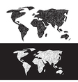 Black and White World Map Set vector image vector image