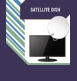 booklet of tv and satellite dishes vector image vector image