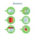 Business Concept Flat Design Set Icon vector image