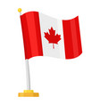canadian flag with a maple leaf icon vector image