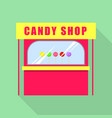 candy shop icon flat style vector image vector image