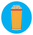 Cardboard cup of popcorn icon vector image