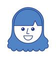 cartoon young teenager happy girl smiling vector image vector image