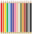 Color pencils vector image