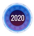 colorful round calendar 2020 design print vector image vector image