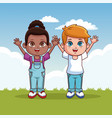cute kids cartoons vector image vector image