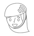 cute young girl child with sport helmet vector image vector image