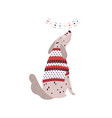 dalmatian dog in sweater flat vector image vector image
