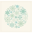 decorating design made of snowflakes vector image vector image